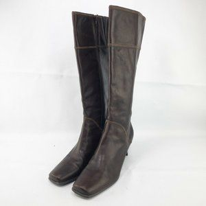 Kenneth Cole Reaction Brown Leather Knee High Boot